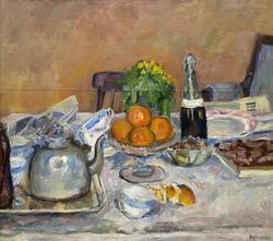 Натюрморт. Праздничный стол. 1932. Лентулов Аристарх Васильевич. 1882-1943