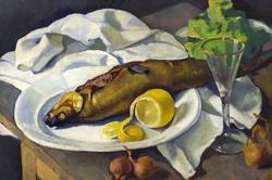 Селедка и лимон. 1920-1922. Серебрякова Зинаида Евгеньевна