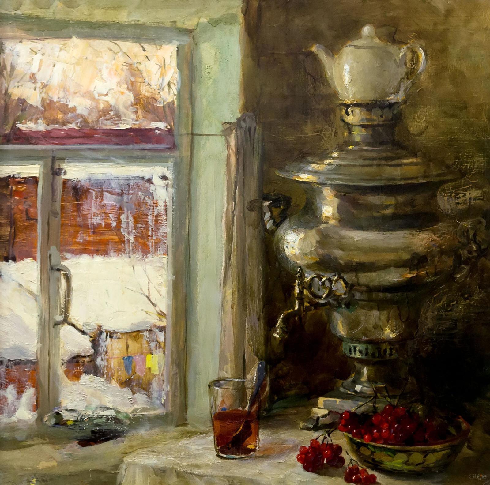 Фото №861037. Натюрморт с самоваром. 1976. Неустроев Сергей Васильевич. 1927-2011