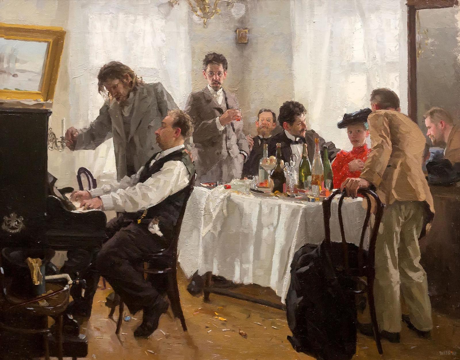 Фото №861157. Своя компания. 1904. Попов Лукиан Васильевич. 1873-1914