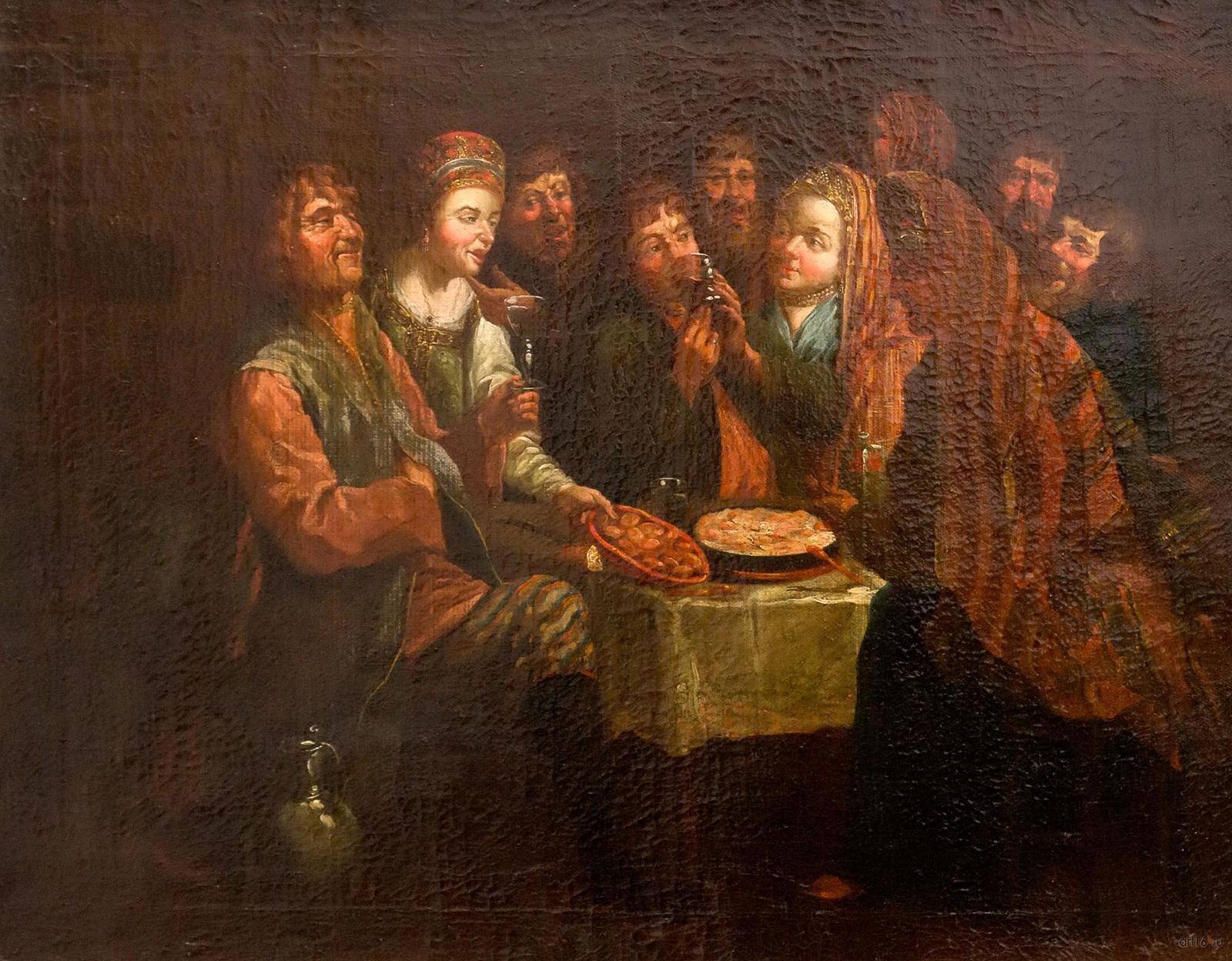 Фото №861175. Крестьянская пирушка. Конец. 1760-нач. 1770. Вишняков А.И., 1751