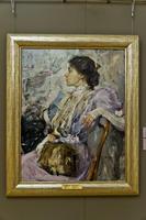 Портрет неизвестной (дама в лиловом). Этюд. 1908.. Фешин Н.И.