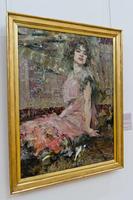 Дама в розовом (портрет Натальи Подбельской). 1912. Фешин Н.И.
