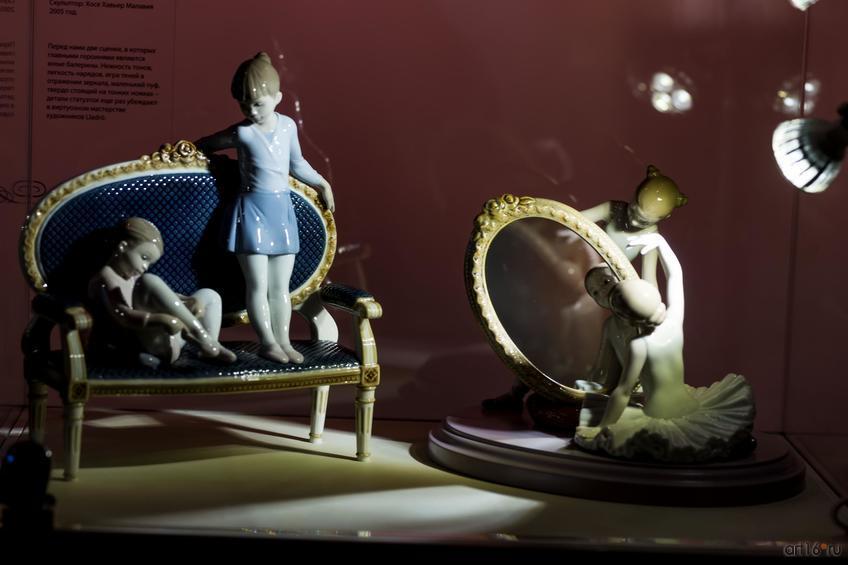 Фото №865715. У меня получается! Скульптор Хавьер Молина. 2011 г./Маленькая балерина. Скульптор Хосе Хавьер Малавия. 2005 г.