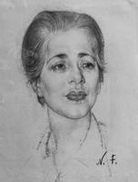 Женский портрет. 1940-е. Фешин Н.И.
