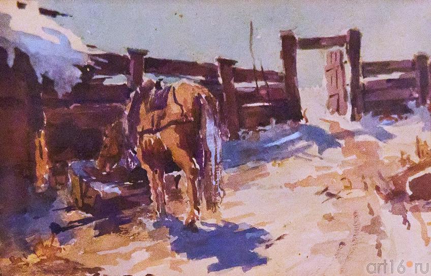 Фото №86604. На скотном дворе. 1910-е. Фешин Н.И.