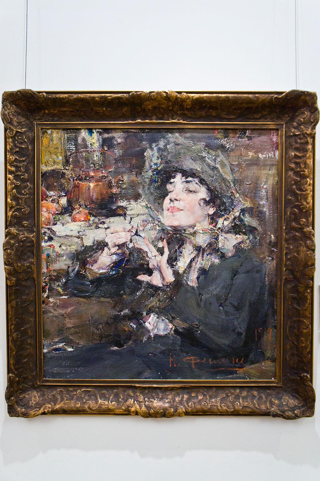 Фото №86644. Девушка за маникюром (Портрет мадмуазель Жирмонд). 1917. Фешин Н.И.