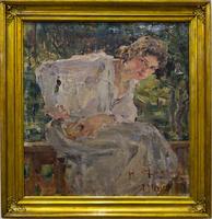 Портрет молодой женщины (Наталья Подбельская), 1910. Фешин Н.И.