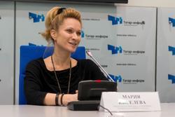 Мария Киселева. Пресс-конференция по поводу новогоднего шоу на воде «Страна снов»