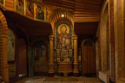 Часовня Вселенского храма. Мозаичное панно  (изображение Иисуса Христа), набранное уч. 9 класса Зульфией