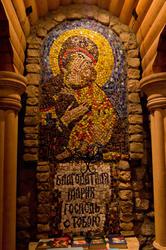 Икона Божией матери в часовне Вселенского храма