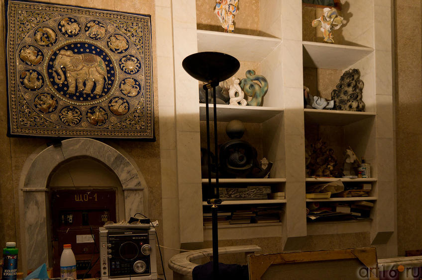 Фото №86971. Панно, расшитое бисером — подпарок Ильдару Ханову от Джавахарлала Неру