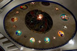 Плафон в Католическом зале Вселенского храма