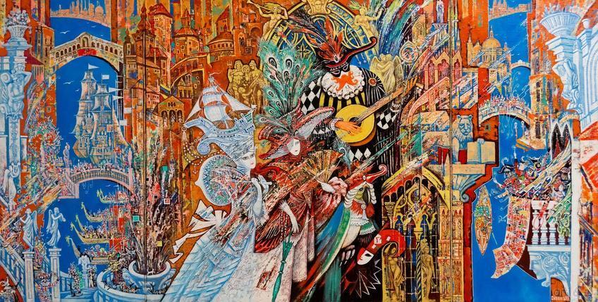 Фото №871509. Венецианский карнавал. Триптих. 2008. Скобеев В.В.