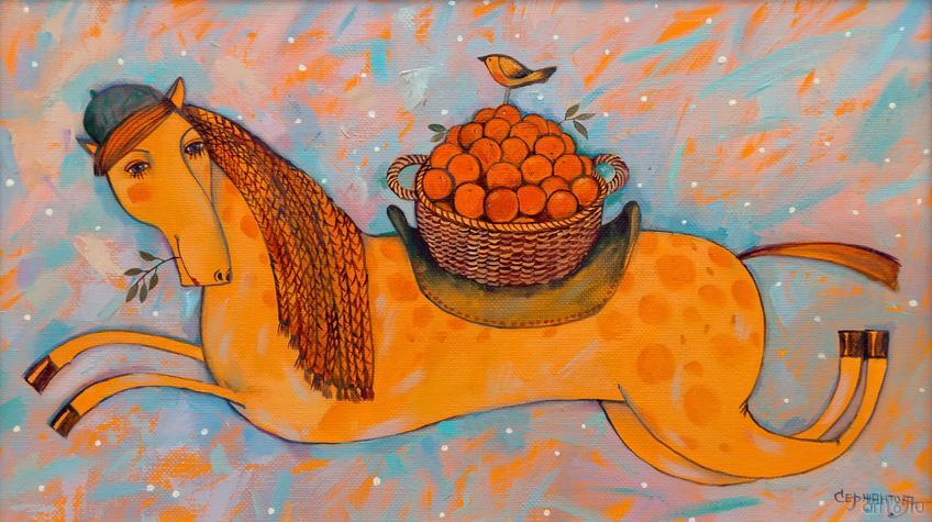 Фото №871593. Апельсиновая лошадка. Новогодняя. 2014. Сержантова О.В.