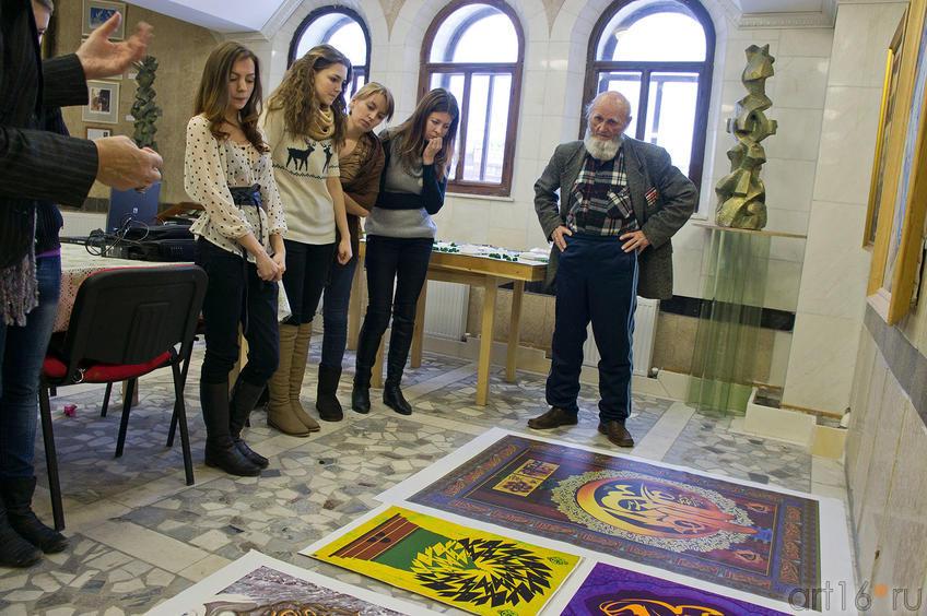 Фото №87262. Вдалимир Александрович Попов и студенты КФУ. 12.11.2011