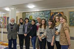 В.Попов, Р.Султанова, И.Ханов и студенты КФУ