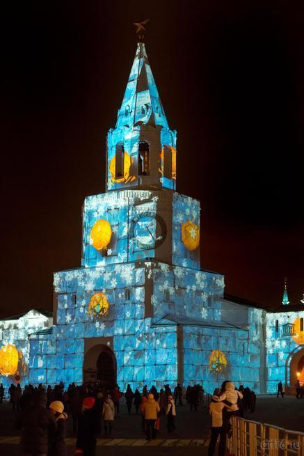 ::Световое шоу на Спасской башне Казанского Кремля