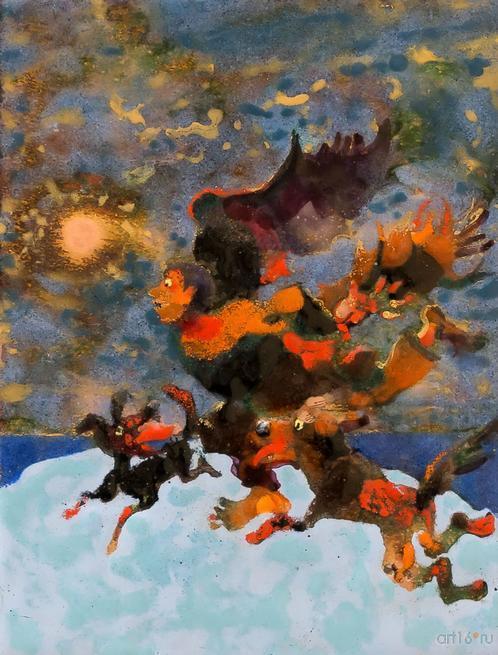 Погоня. 2015. Р.Сафиуллин::Полет над Черным озером. Рашит, Чингиз и Анастасия Сафиуллины