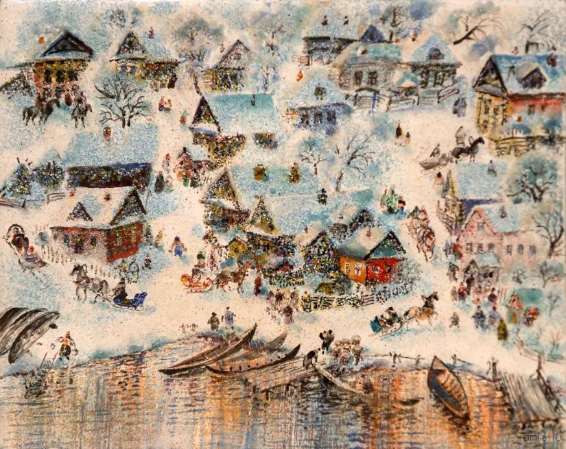 Теплая зима. 2015. Р.Сафиуллин::Полет над Черным озером. Рашит, Чингиз и Анастасия Сафиуллины