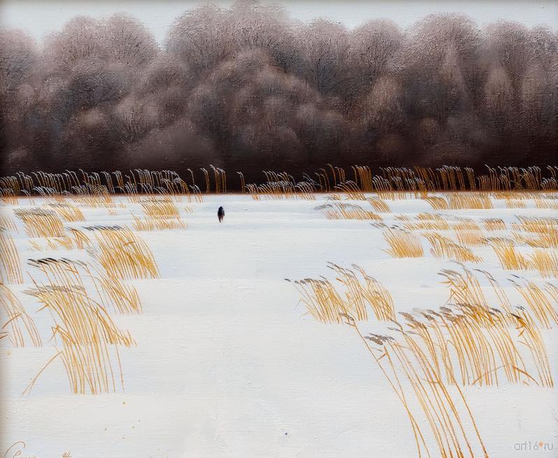 Дорога к лесу. 1985. Р.Сафиуллин::Полет над Черным озером. Рашит, Чингиз и Анастасия Сафиуллины