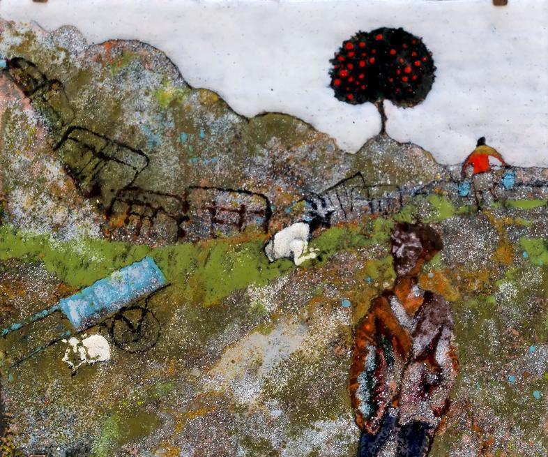 В огороде бузина. 2014. Р.Сафиуллин::Полет над Черным озером. Рашит, Чингиз и Анастасия Сафиуллины