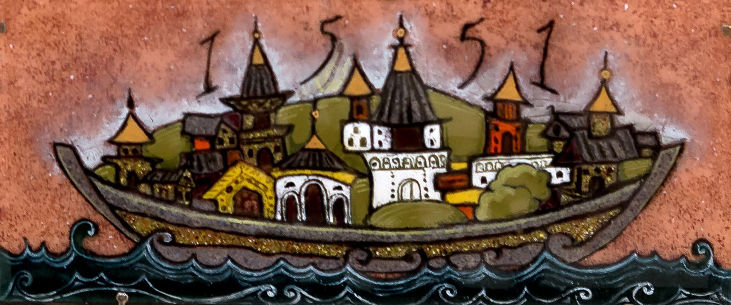 Свияжский ковчег. 2015. Анастасия Сафиуллина::Полет над Черным озером. Рашит, Чингиз и Анастасия Сафиуллины