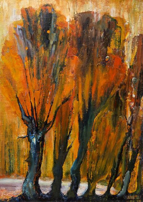 Оранжевая осень. 2009. Габбасов Рустам::Рустам Габбасов. Скульптура, живопись. Выставка