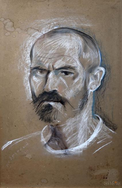 Автопортрет. Габбасов Рустам Ансарович. 1956::Рустам Габбасов. Скульптура, живопись. Выставка