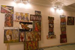 Фрагмент экспозиции выставки «Пора тополиного пуха» (В.Тимофеев)