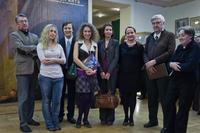 Сотрудники Государственного Эрмитажа (Санкт-Петербург) на открытии выставки
