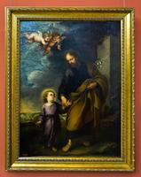 Св. Иосиф, ведущий за руку ребенка Христа. 1670-е. Бартоломе Эстебан Мурильо