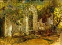 Руины в парке. 1820-е.  Брюллов К.