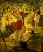 Девушка, собирающая виноград в окрестностях Неаполя. 1827. Брюллов К.П.