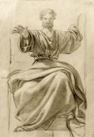Апостол Иоанн. Эскиз для росписи большого купола Исаакиевского собора. 1843-1846. Брюллов К.П.