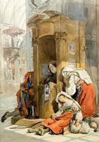 На исповеди. 1827-1830. Брюллов К.П.