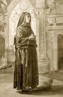 Монахиня-капуцинка в храме. 1828-1829. Брюллов К.П.