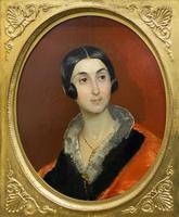 Портрет Елены Ивановны Тон, жены архитектора К.А.Тона. 2. пол. 1830-х. Брюллов К.П.