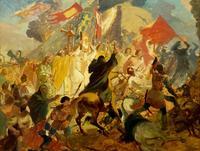 Осада Пскова польским королем Стефаном Баторием в 1581 году. 1836(7?). Брюллов К.П.