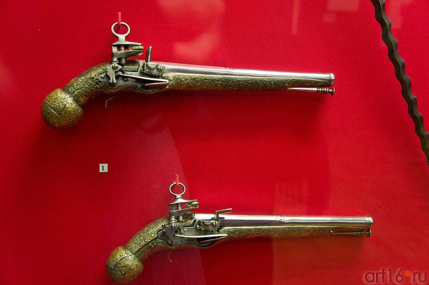 Пара кремневых пистолетов. Риполь, ок. 1660-1670 гг.