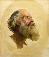 Голова апостола Петра. 1843-1847э Брюллов К.П.