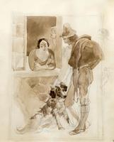 У окна. 1840-1845. Брюллов К.П.