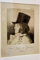 Франсиско Гойа-и-Лусиентес, художник (автопортрет),  1797-1798, 1-й  лист серии ''Капричос''. Франсиско Гойя.
