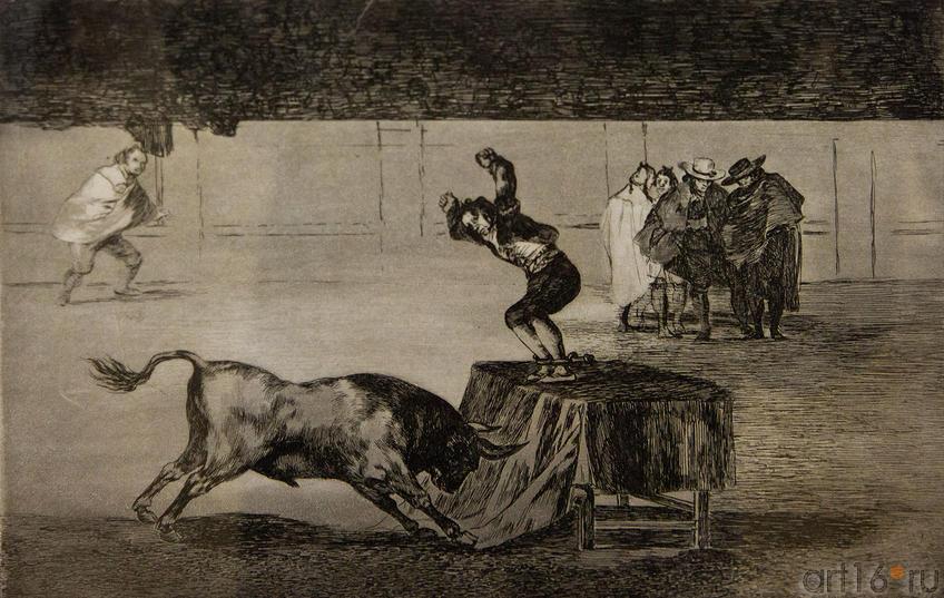 Другое безумство Мартинчо на арене в Сарагосе, 1815. 19 лист серии Тавромахия