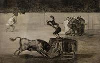 Другое безумство Мартинчо на арене в Сарагосе, 1815. 19 лист серии ''Тавромахия''