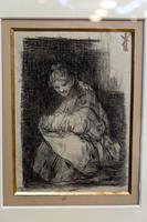 Женщина с ребенком на коленях. 1824-1828. Франсиско Гойя.Фуэндетодос 1746 -Бордо.1828