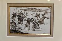 Конькобежцы. Ок. 1824. Франсиско Гойя.Фуэндетодос 1746 -Бордо.1828