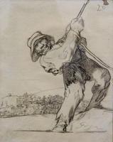 Тянущий за веревку. 1824-1828. Франсиско Гойя.Фуэндетодос 1746 -Бордо.1828