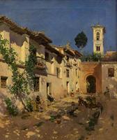 Дворик в Испании. 1871. Мартин Рико -и-Орткга. 1833, Мадрид - 1908, Венеция