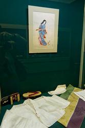 Дзюбан /Хада-дзюбан / сандалии Гэта /Носки Широ-Таби /Пояс Оби с орнаментом /Сентаро Ивато.